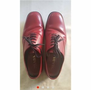 Red Prada Leather Shoes